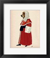 Framed Basset Hound Judge Full II
