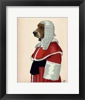 Framed Basset Hound Judge Portrait II