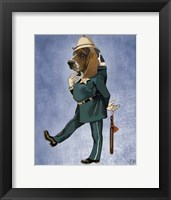 Basset Hound Policeman II Framed Print