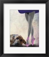 Framed Bloodhound And Ballet Dancer