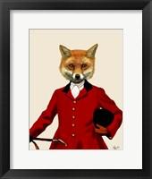 Fox Hunter 2 Portrait Framed Print