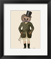 Hedgehog Rider Full Framed Print