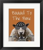 Baaad To the Bone I Framed Print