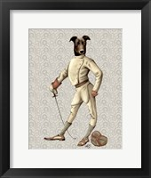 Framed Greyhound Fencer in Cream Full