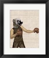 Boxing Bulldog Portrait Framed Print