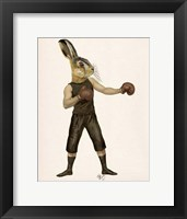 Framed Boxing Hare