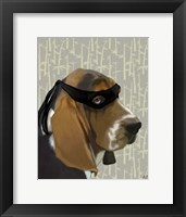 Framed Ninja Basset Hound Dog