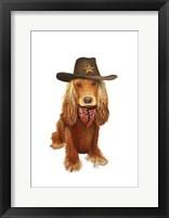 Framed Cocker Spaniel Cowboy