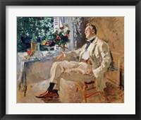 Framed Portrait of the Singer Fyodor Chaliapin