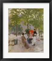 Framed Open-air Parisian Cafe