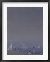 Framed Three Sailboats