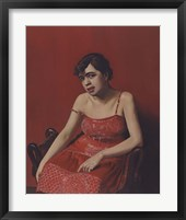Framed Romanian in a Red Dress, 1924