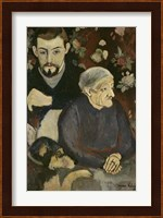 Framed Utrillo with his Grandmother and Dog, 1910