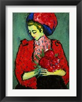 Framed Girl with Peonies 1909
