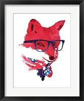 Framed American Fox
