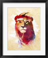 Framed Gym Lion