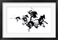 Framed Black Horses