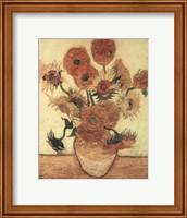 Framed Vase With Sunflowers