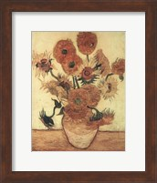 Framed Vase With Sunflowers