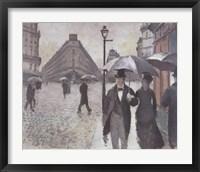 Framed Paris - A Rainy Day, 1877