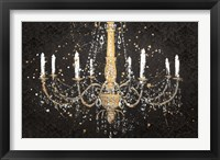 Framed Grand Chandelier Black I