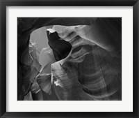 Framed Upper Antelope Canyon (Black & White)