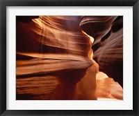 Framed Upper Antelope Canyon Slot, Canyon Interior