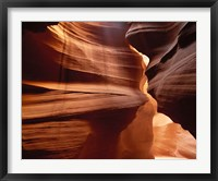 Framed Upper Antelope Canyon Slot, Canyon Interior