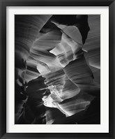 Framed Red Sandstone Walls, Lower Antelope Canyon (Black & White)