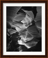 Framed Red Sandstone Walls, Lower Antelope Canyon (Black & White)