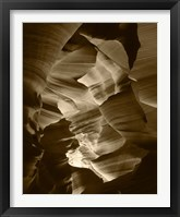 Framed Red Sandstone Walls, Lower Antelope Canyon (Sepia)