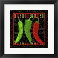 Framed Spicy Peppers I