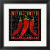 Framed Spicy Peppers II