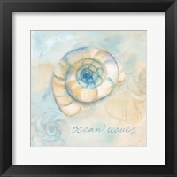 Watercolor Shell Sentiments III Framed Print