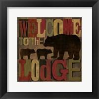 At the Lodge Printer Blocks IV Framed Print