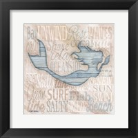 Driftwood Beach Icons I Framed Print