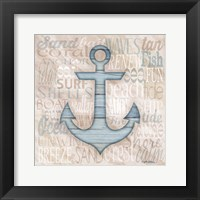 Driftwood Beach Icons V Framed Print