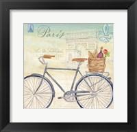 Paris Bike Tour II Framed Print