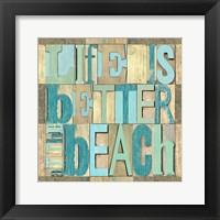 Framed Beach Printer Blocks I