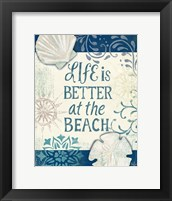 Framed Navy Blue Spa Sentiments II