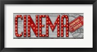 Framed Movie Marquee Panel I (Cinema)