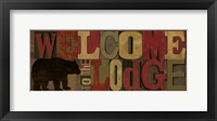 Welcome to the Lodge Panel Framed Print