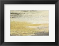 Framed Siena Abstract Yellow Gray Landscape
