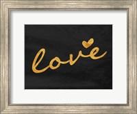 Framed Gold Love