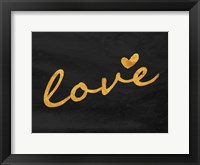 Framed Gold Love