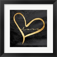 Framed Simple Love Black
