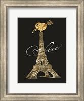 Framed Parisian Golden Love