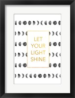 Light shine Framed Print