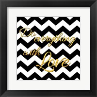 Golden Love Framed Print