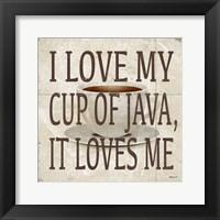Framed Love Java